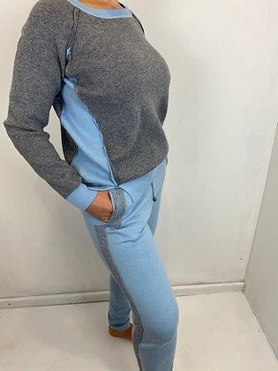 Blue & grey lounge wear  2pc set