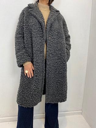 Grey oversized Teddy Coat