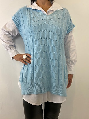 Baby Blue soft knit tank Top
