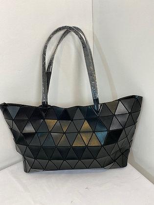 Black tote Bag triangle pattern