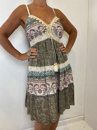 Pattern Knee Length Dress
