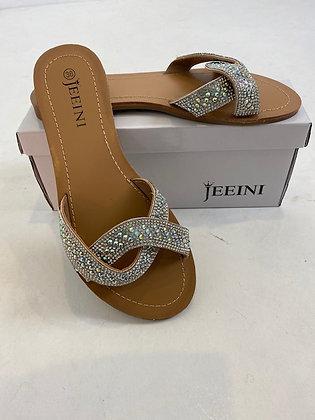 Pretty Diamanté & Sequin flat sandals