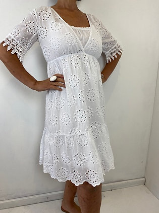 White embroidery anglaise pretty dress