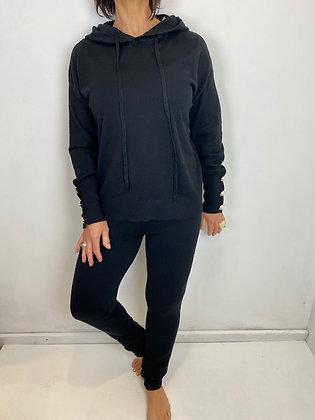 Black super soft knit 2pc set