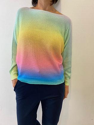 Rainbow colour ombré top