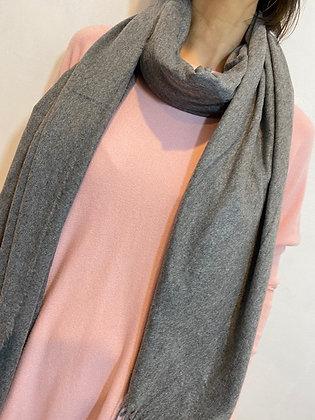 Grey soft cashmere feel scarf