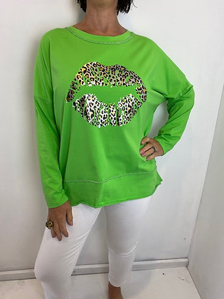 Lime Green Lip Top