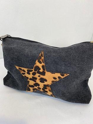 Canvas leopard print star Bag