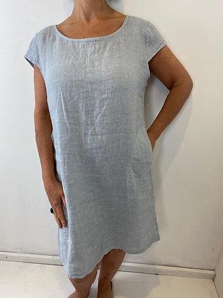 Powder grey linen dress