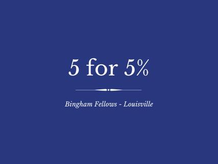 5 for 5% - Spring '20