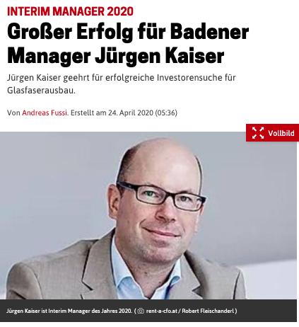 Großer Erfolg für Jürgen Kaiser