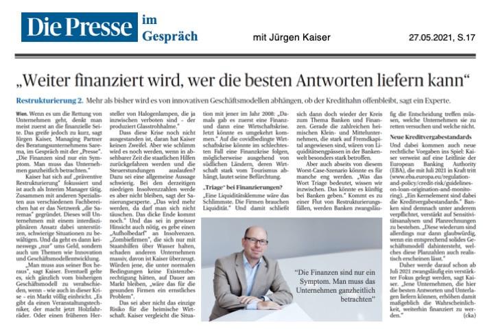 Die Presse, 27.05.2021, S.17