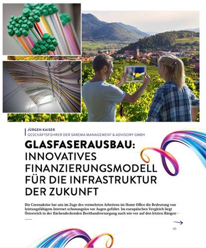 Glasfaserausbau: Innovatives Finanzierungsmodell für die Infrastruktur der Zukunft