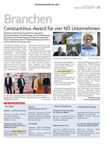 Constantinus Award für vier NÖ Unternehmen