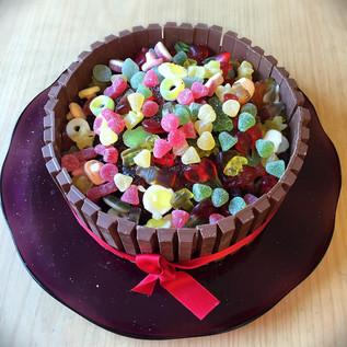 Sjoko-kake med godis