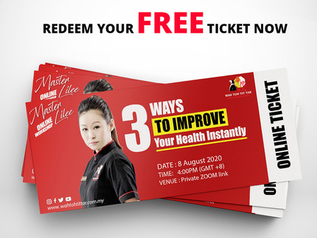 Redeem Your FREE Online Ticket (Worth RM699) Today!