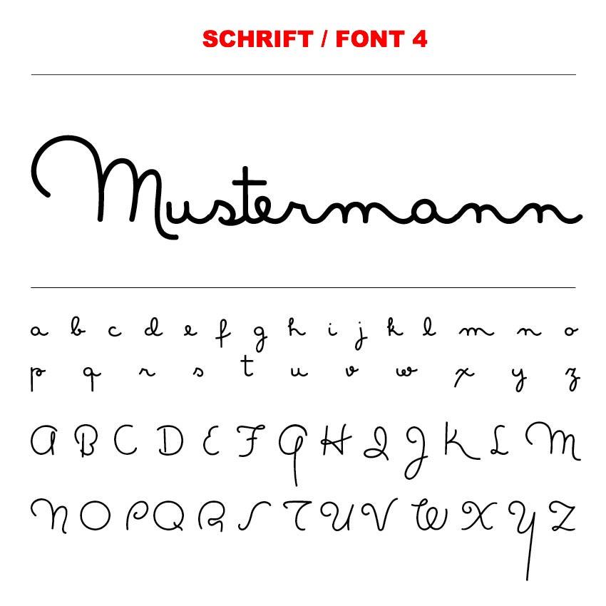 Schrift / Font 4
