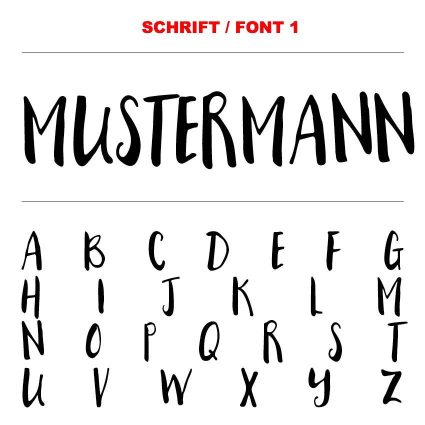 Schrift / Font 1
