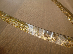 Parquet avec quartz de verre