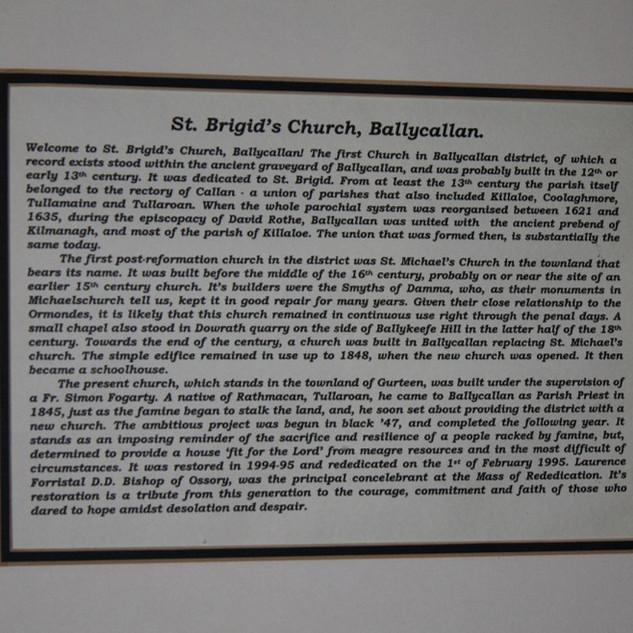 St. Bridget's Church, Ballycallan
