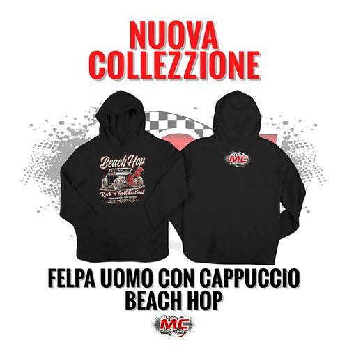 FELPA UOMO CON CAPPUCCIO BEACH HOP