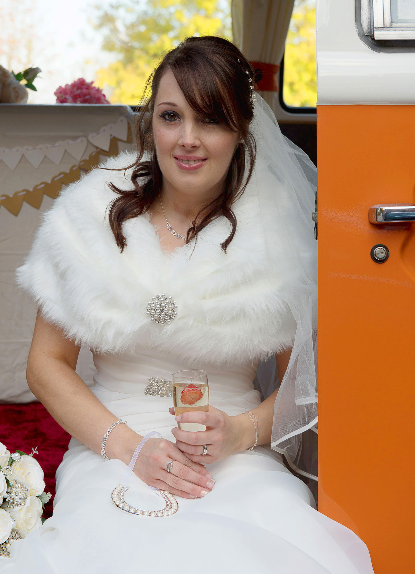 Bride in Camper Van