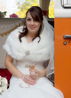 Bride in Camper Van