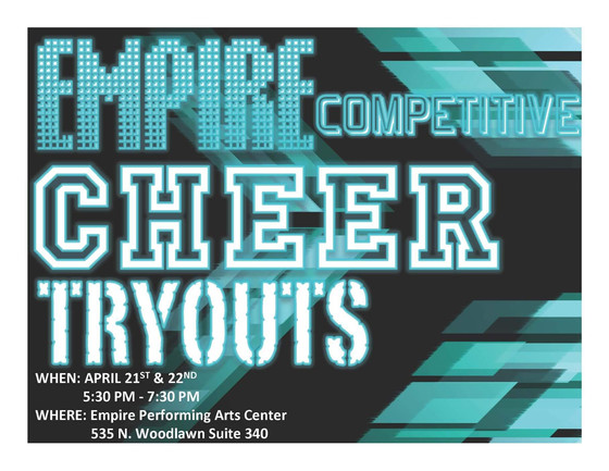 Who's trying out for Empire's Competitive Cheer Team?