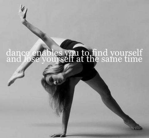 Dance enables you to find yourself
