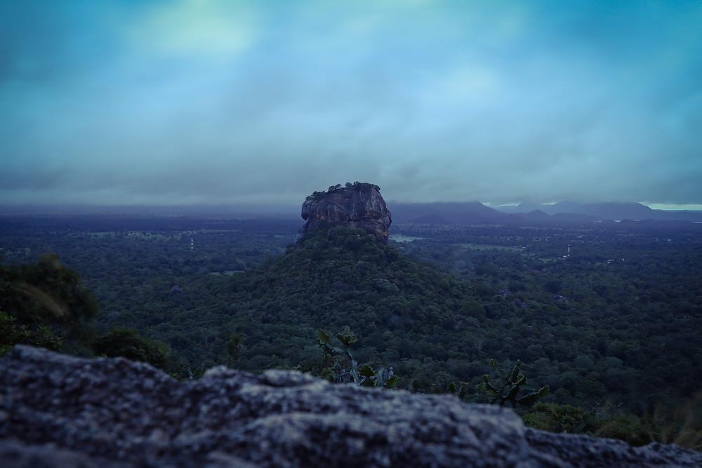 Pidurangala view to Lions Rock