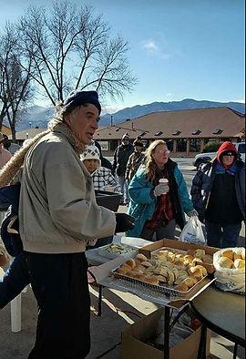 Man receiving food