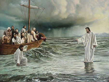 Jesus Reaching out to disciples