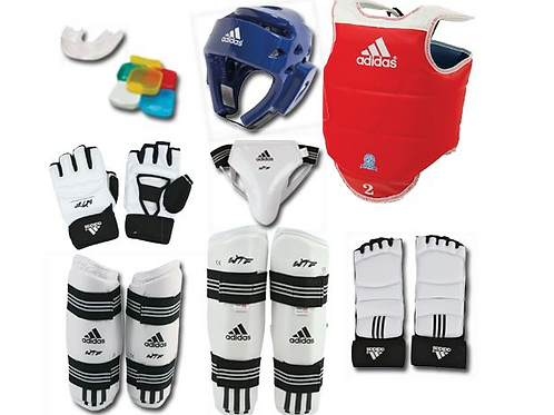 Pure TKD x Adidas Sparring Gear - Full Set w/ Backpack