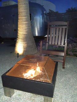 Wood burning firepit