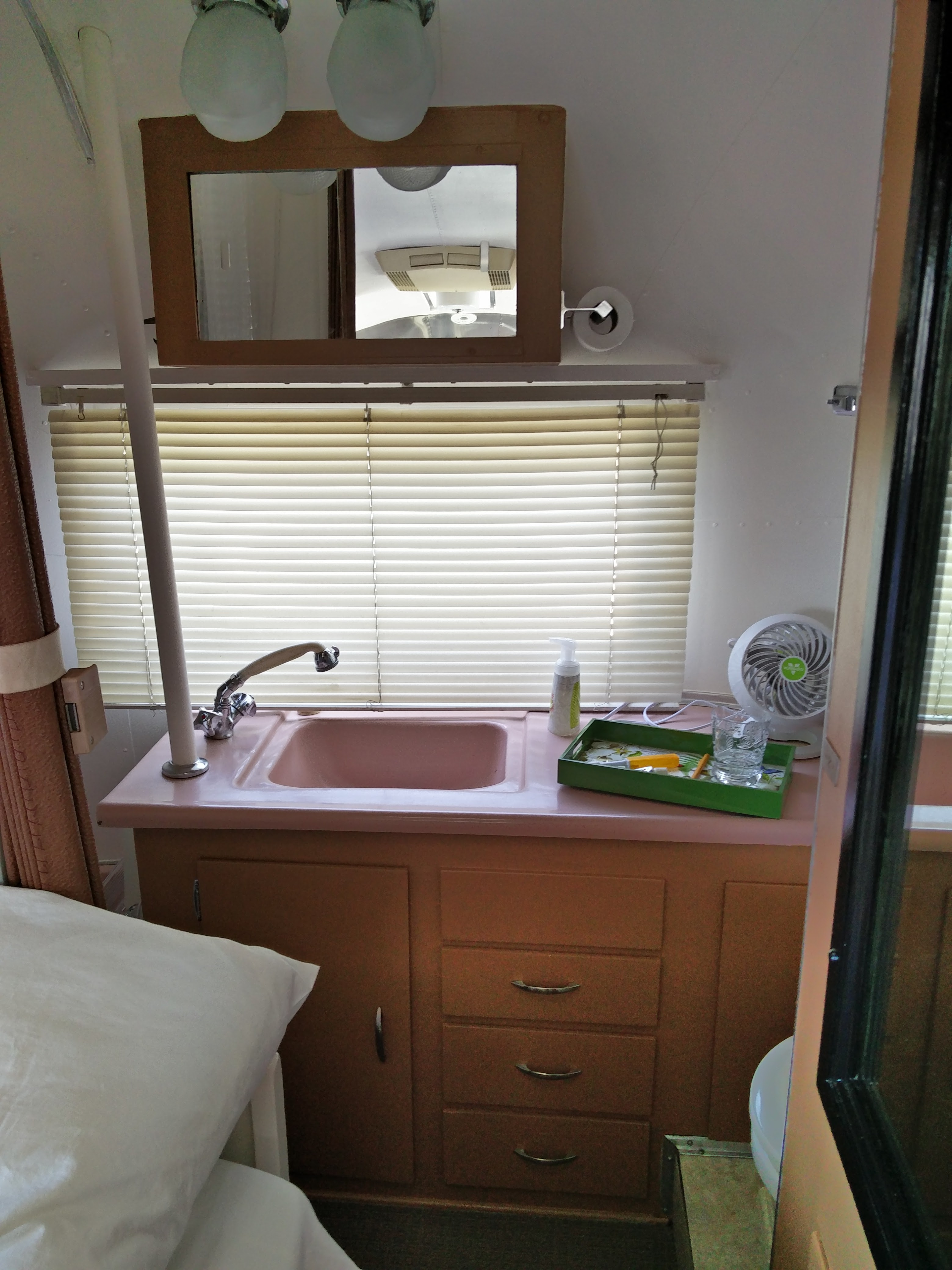 Full working Airstream bathroom