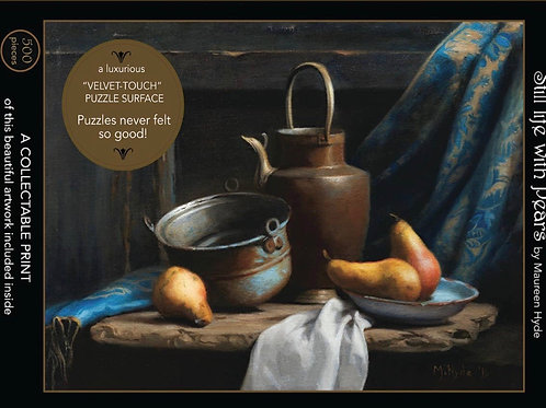 Still Life with Pears;500-Piece, Velvet-Touch, Jigsaw Puzzle