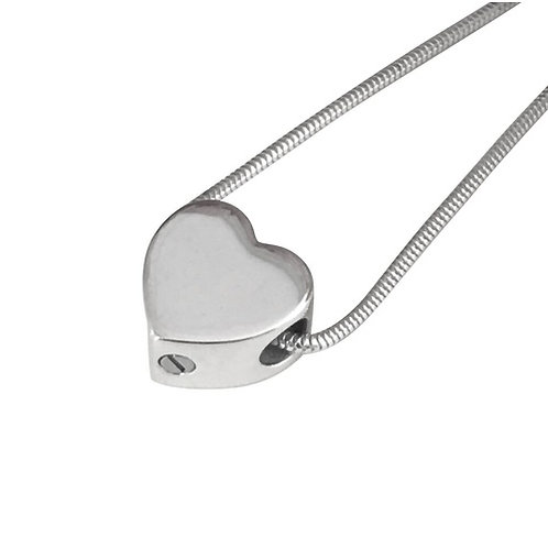 Heart Bead Cremation Necklace