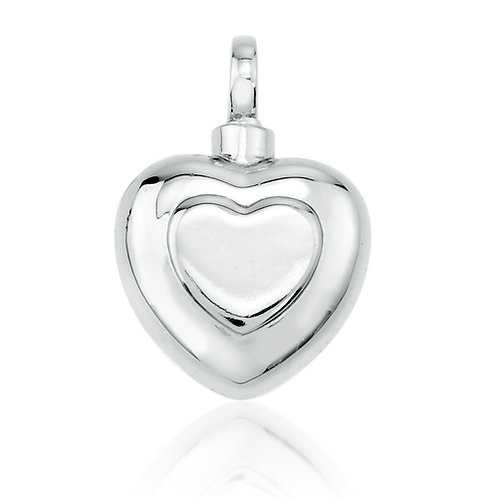 Double Heart Cremation Necklace