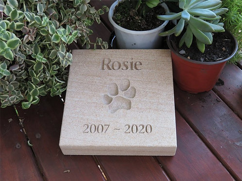 Forever Paw Print In Stone