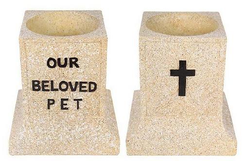 """Our Beloved Pet"""" Memorial Holder 15cm"""