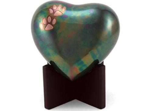 Arielle Heart Paw Keepsake Urn