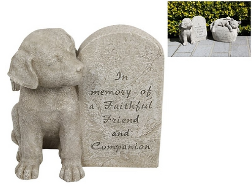 Dog Memorial Plaque  21cm