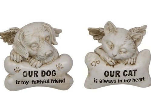 Cat Dog Memorial Plaque 13cm