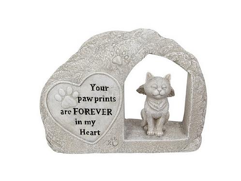 Cat Memorial Artificial Stone 25cm