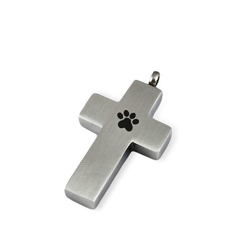 Paw Print Cross with Chain