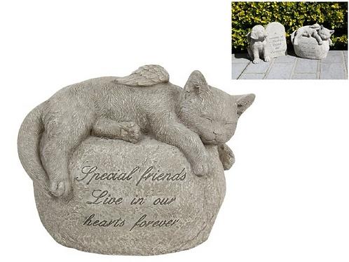 Cat Memorial with Wings 24cm