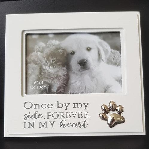 Frame Silver Paw Pet Memorial 6x4