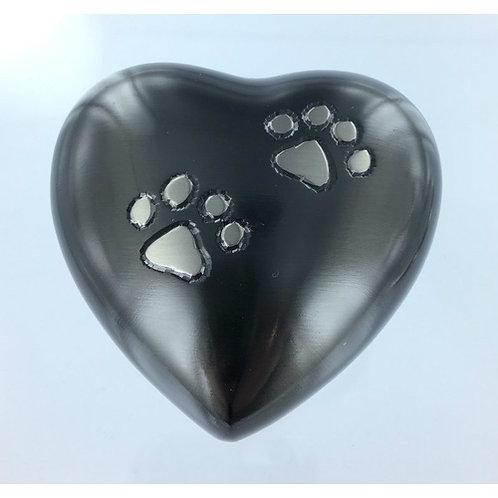 Grey Paws to Heaven Keepsake Heart