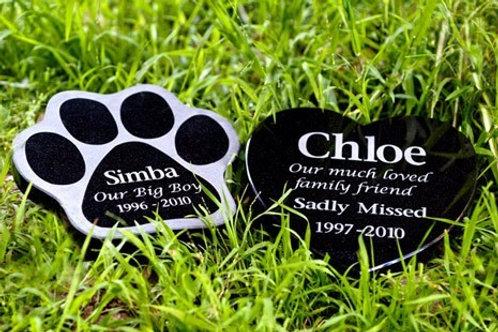 Shaped Granite Plaque Pet Memorial