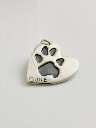 Heart Pure Silver Pendant